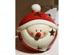 Windlicht Weihnachtsmotiv - Weihnachtsmann aus Keramik