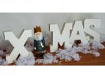 XMAS - Buchstaben aus Holz in weiß - Weihnachtsdekoration