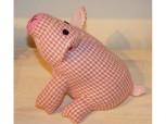 Rosa Schweinchen - Türstopper aus Stoff